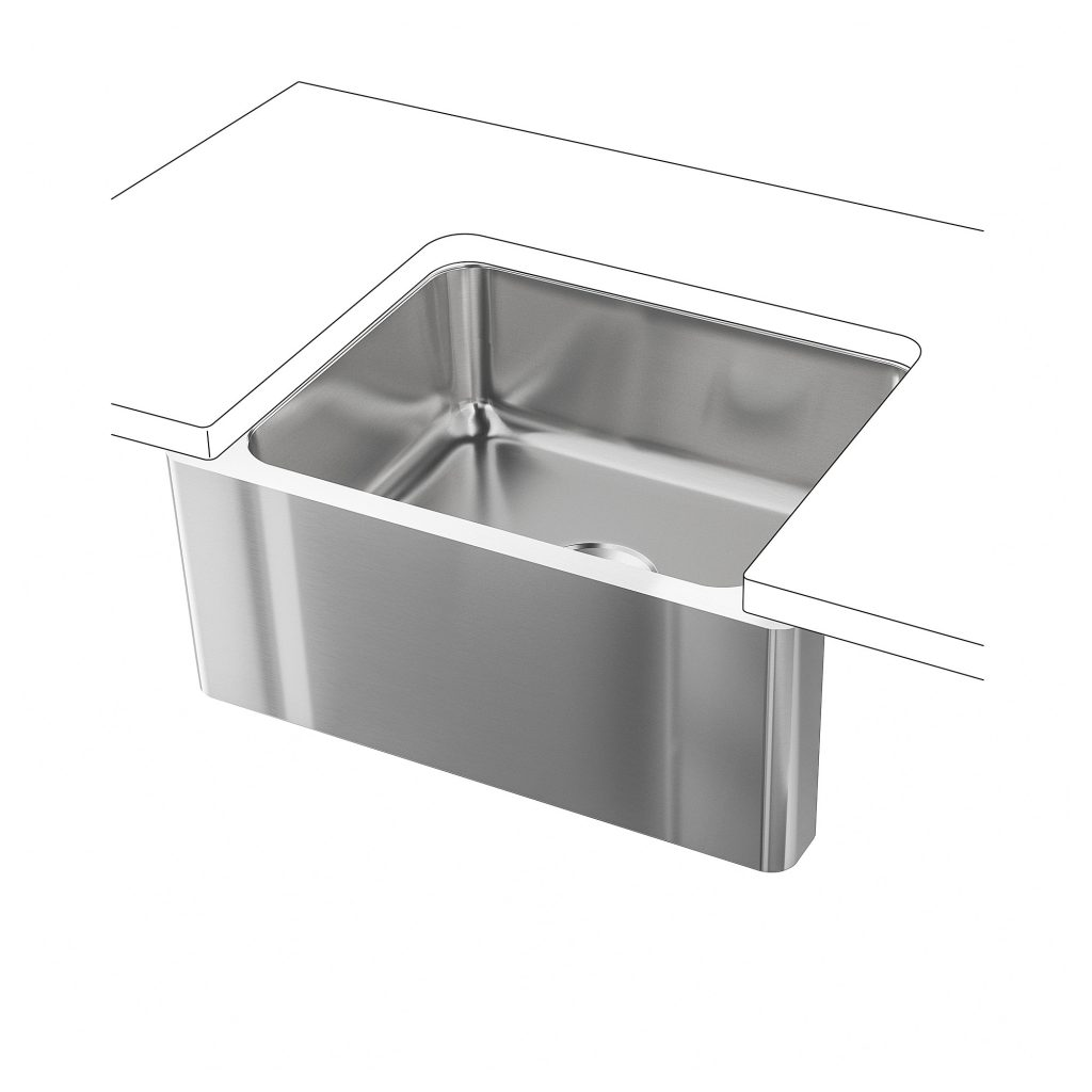 Bredsjn Apron Front Sink Under Glued Stainless Steel Ikea