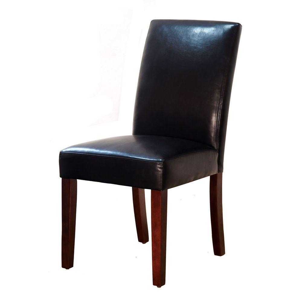 Brexley Espresso Bonded Leather Parsons Dining Chair C L201 D2a