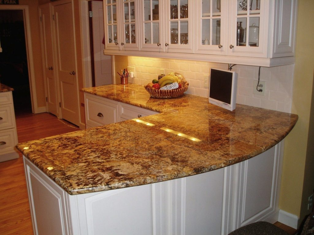 Brown Granite Countertop Colors For Fascinating Kitchen Small White