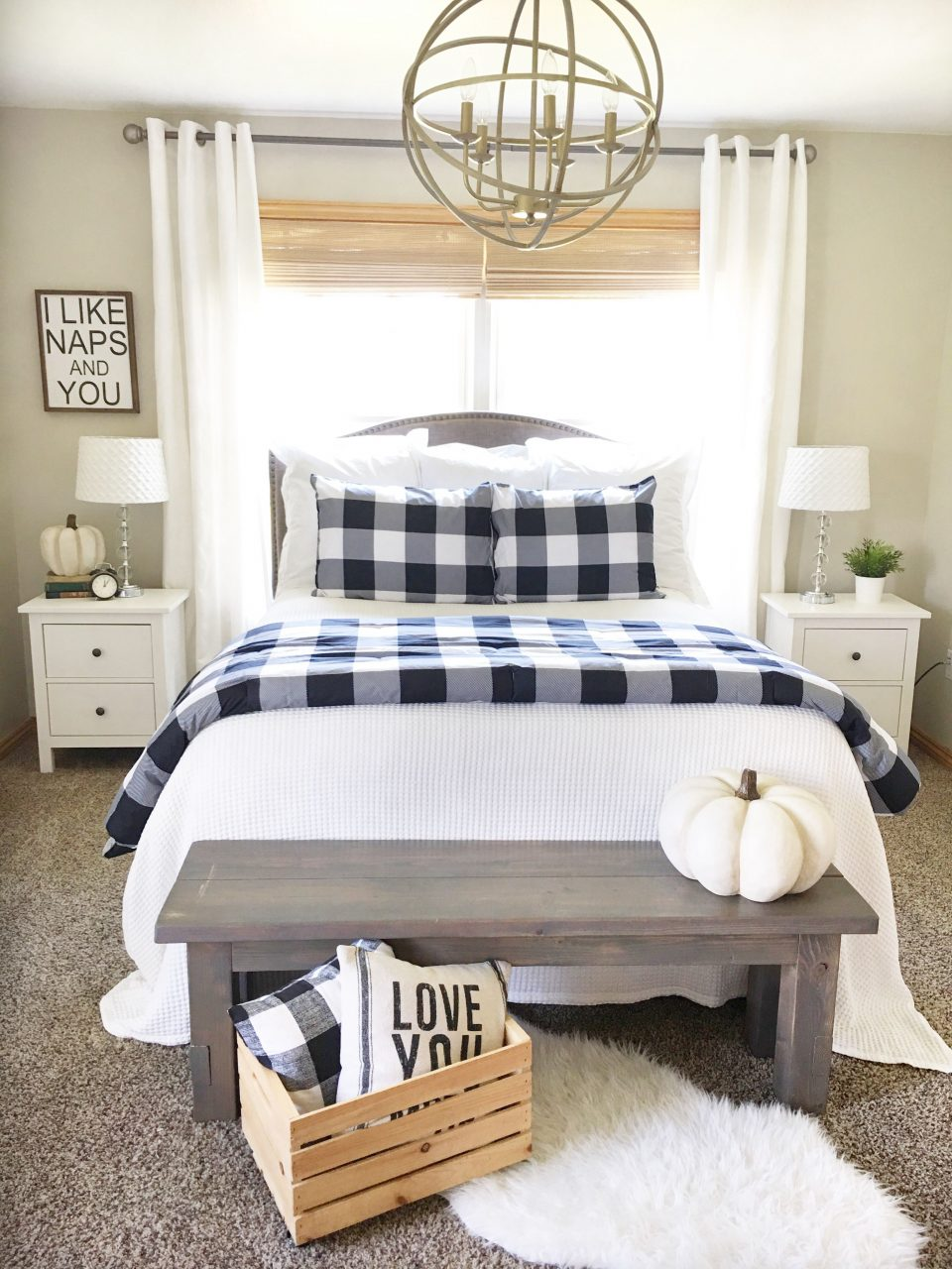 Buffalo Check Bedroom Decor Future Home Farmhouse Bedroom