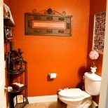 Burnt Orange Bathroom Home And Garden Bathroom Arrangement Ideas