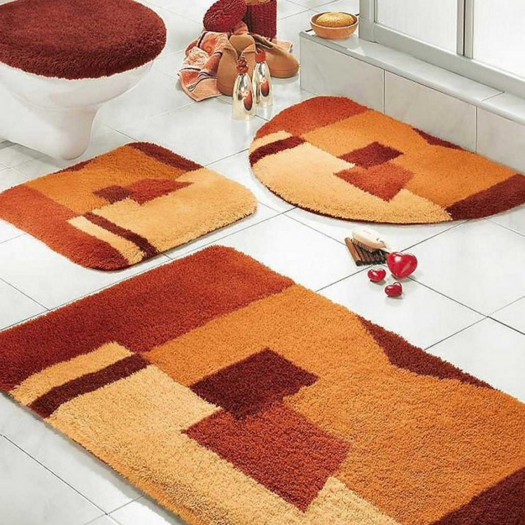 Burnt Orange Bathroom Rug Com Rug Set Bathrrom Accessories Ideas