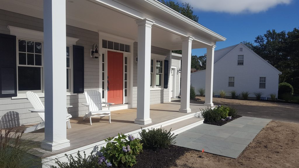 Cape Cod Style Custom Home With Farmers Porch Farmers Porch And