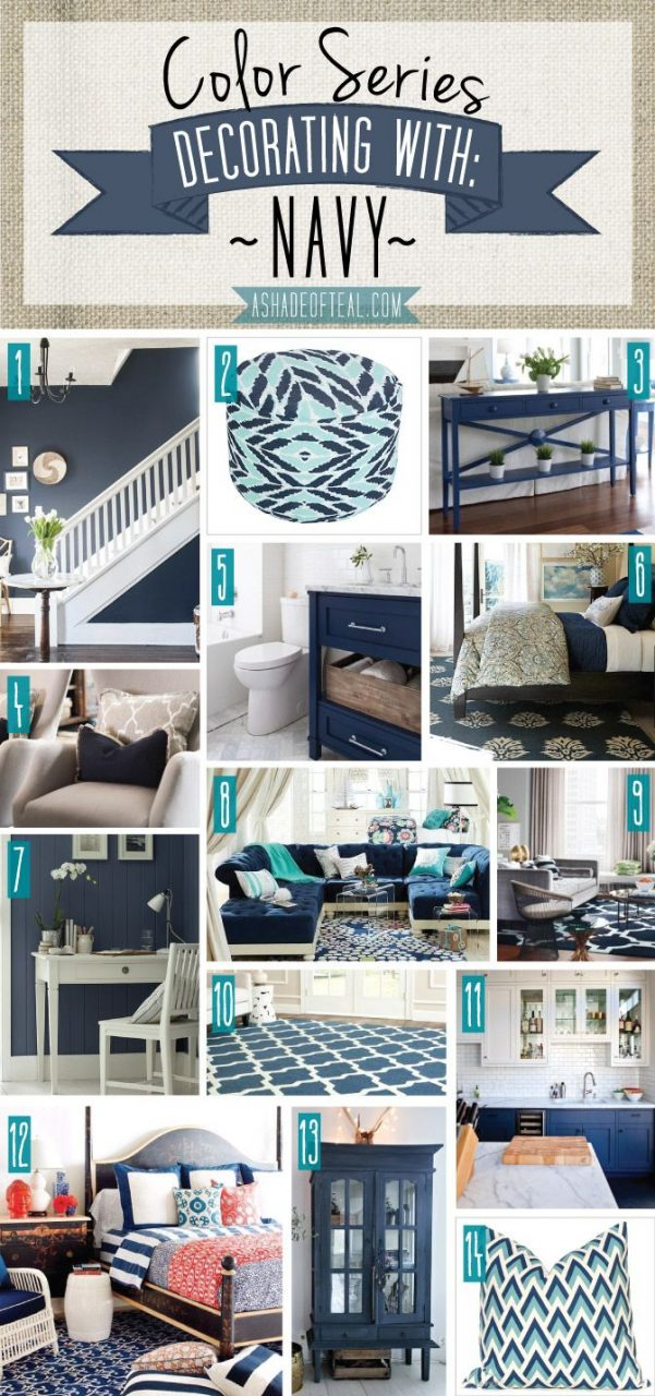 Color Series Decorating With Navy Chic Home Decor Navy Home