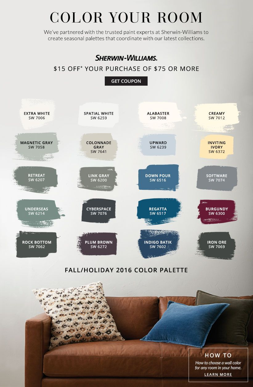 Color Your Room Pottery Barn Sherwin Williams Home Sweet Home