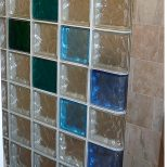 Colored Glass Block Wall Provides A Stylish And Durable Alternative