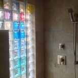 Colored Glass Shower Walls Colored Glass Block Shower Wall