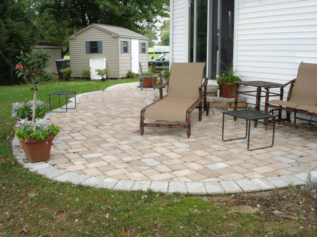Concrete Paver Patio Designs Installation Cost Great Ideas Furniture