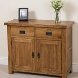 Cotswold Rustic Small Oak Sideboard Modern Furniture Direct