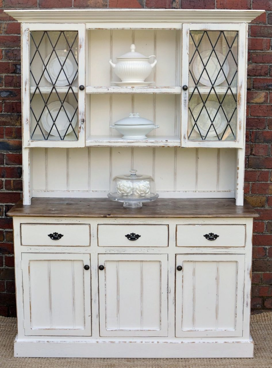 Country Farmhouse French Provincial Buffet And Hutch Sideboard