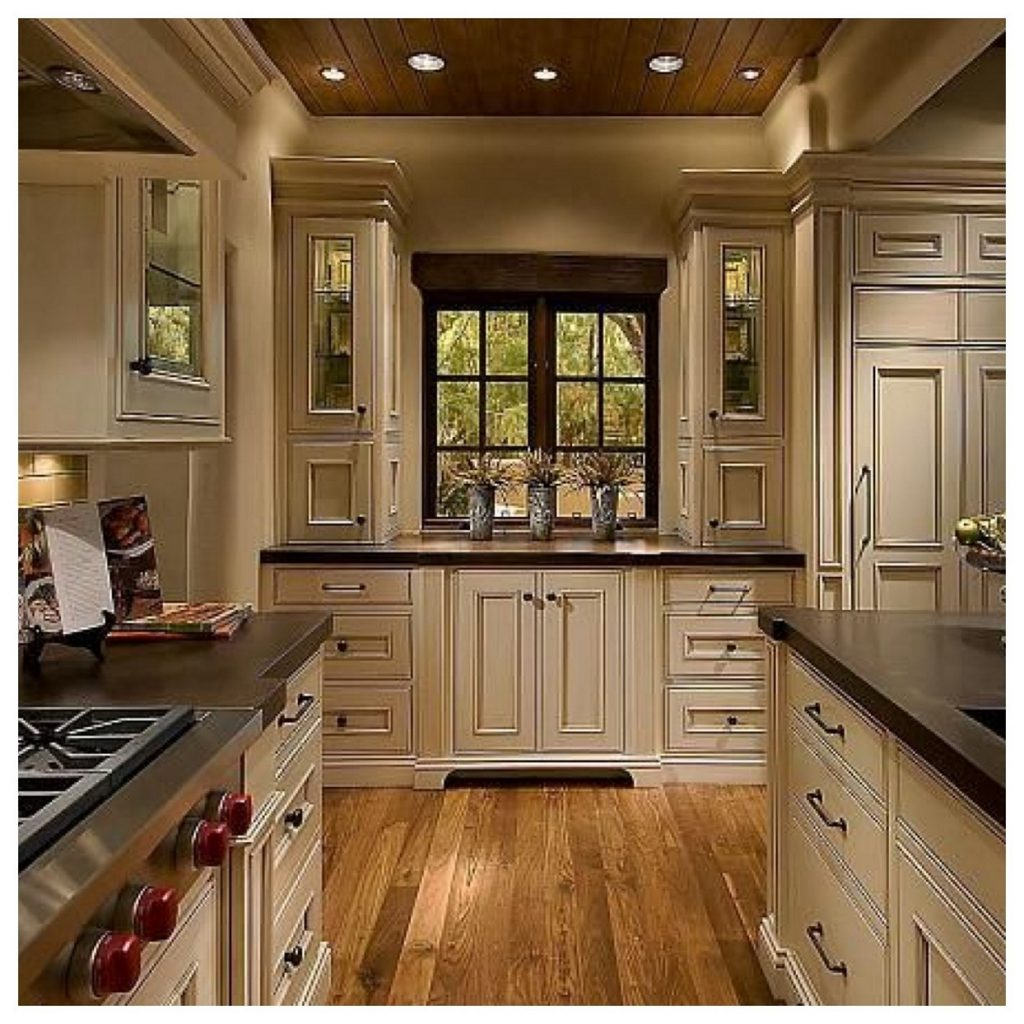 Cream Color Kitchen Cabinets With Dark Floors Kitchen Cabinet