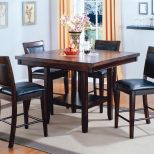 Crown Mark Fulton Counter Height Table With Lazy Susan And