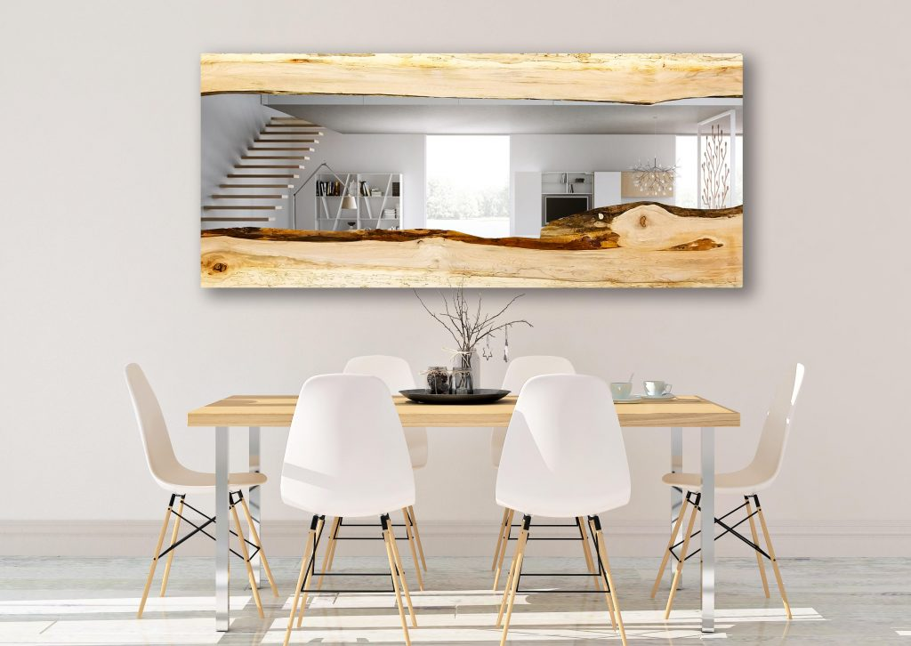 Custom Large Maple Wall Mirror Dining Room Modern Live Etsy