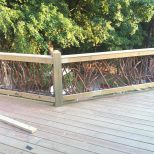 Deck Idea Porch Railing Rustic Wood Handrails For Your Home