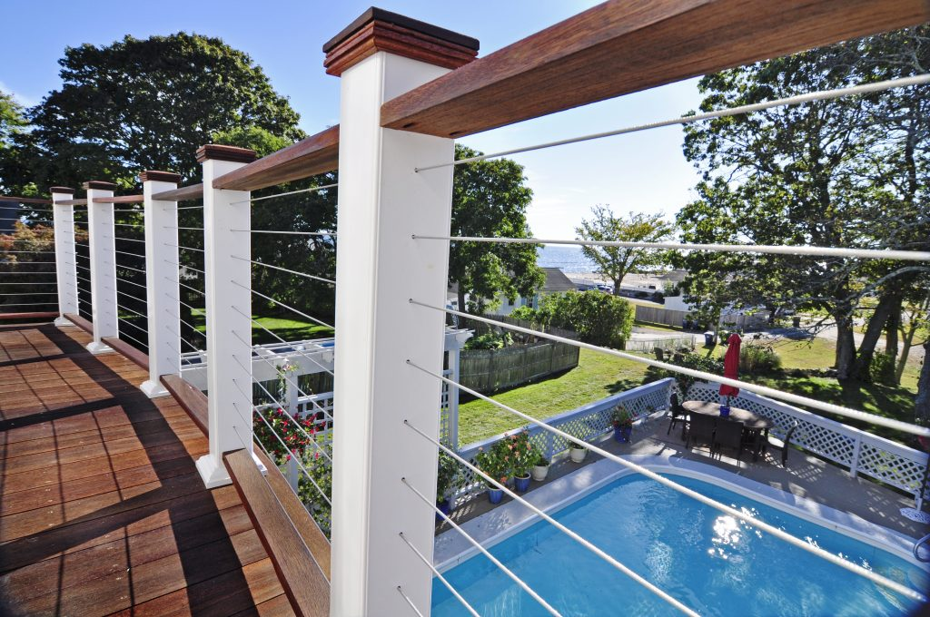 Decking Stylish Outdoor Home Design With Deck Railing Ideas