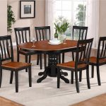 Black Oval Dining Room Table Sets