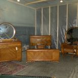 Details About Waterfall Art Deco Antique 4 Piece Bedroom Set In 2019