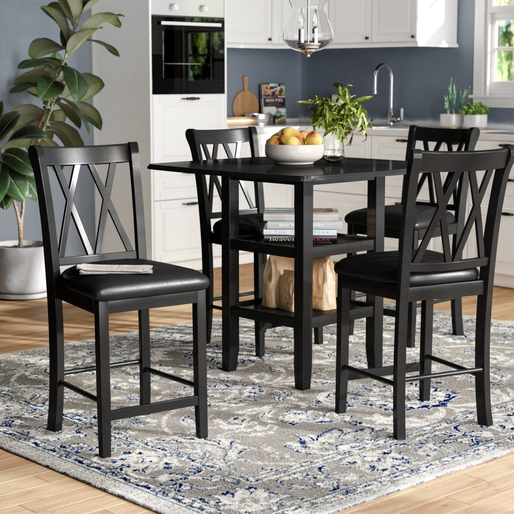 Dining Chair Faux Leather Dining Chairs Counter Height Dining Set