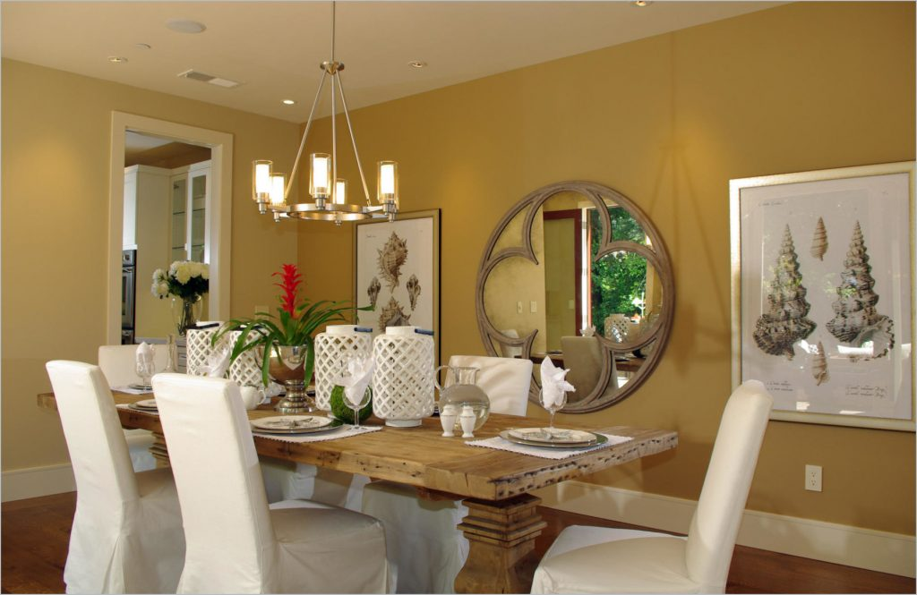 Dining Room Decorating Ideas Modern Custom Rectangular Brown Wooden