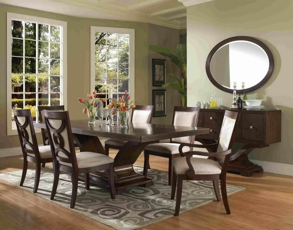 Dining Room Formal Dining Room Furniture With White Padding And