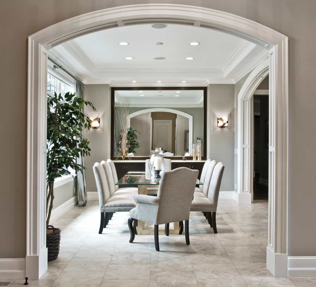 Dining Room With Large Wall Mirror Placing Sconces In Your Dining