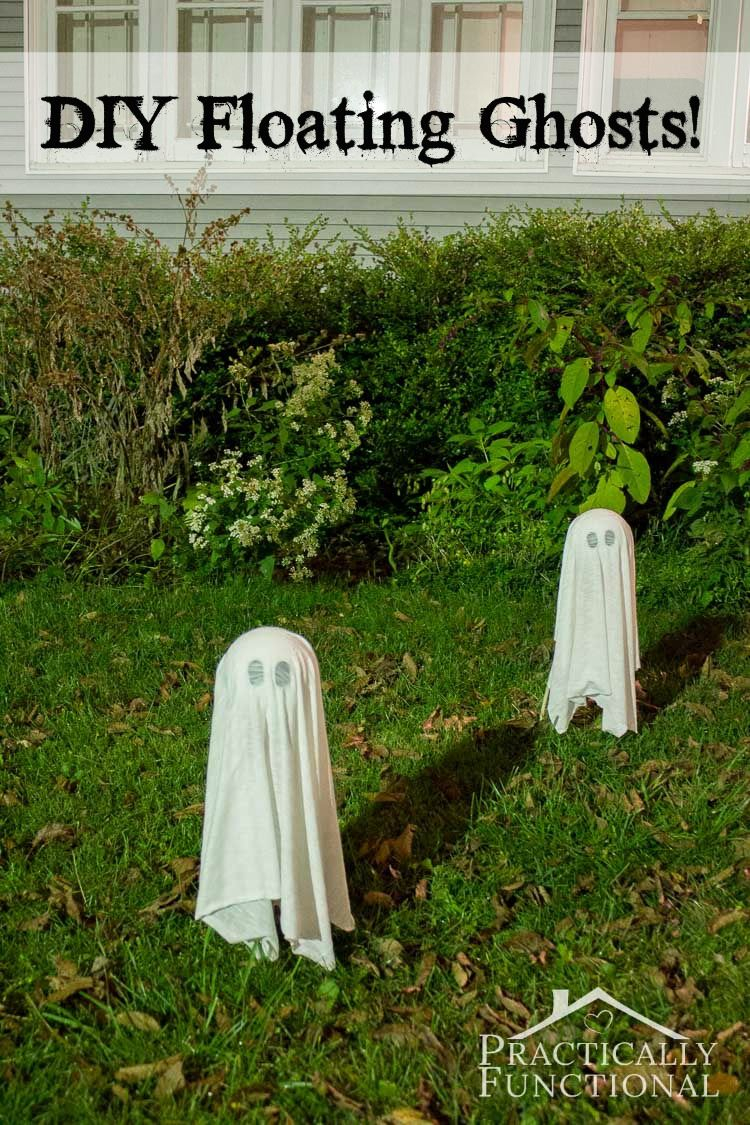 Diy Floating Halloween Ghosts For Your Yard Halloween Party