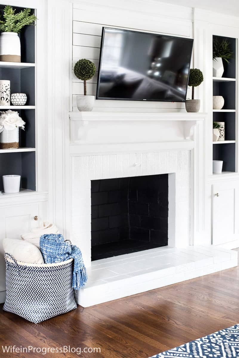 Diy Tutorial How To Paint A Brick Fireplace Jenna Kate At Home