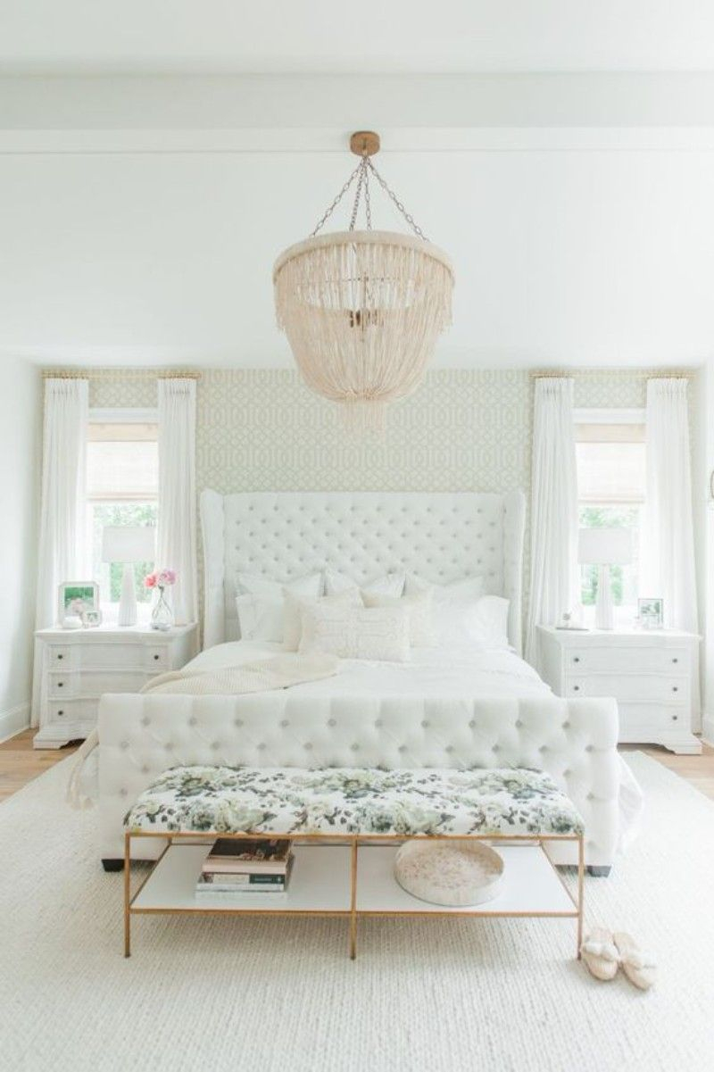 Elegant And Luxurious This All White Bedroom Has A Feminine Feel To