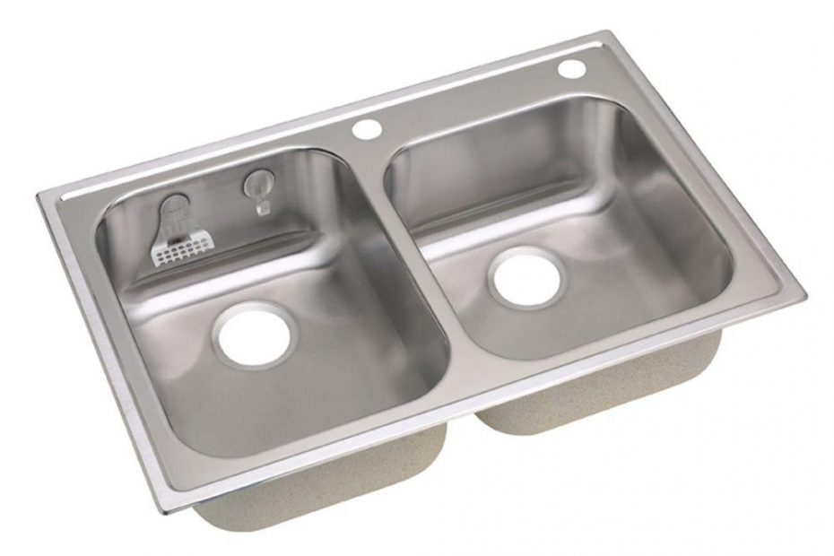 Elkay Magna Drop In Stainless Steel 33 In 2 Hole Double Bowl