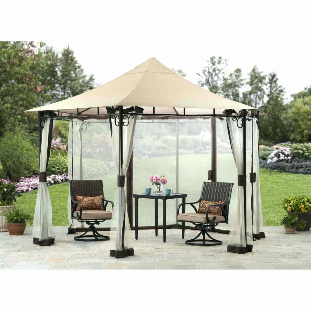 Essential Garden Gazebo Grill With Fabric Canopy Terrace 12ft X 10ft