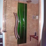 Evergreen Glass Colored Bathroom Glass For Showers And Vanities