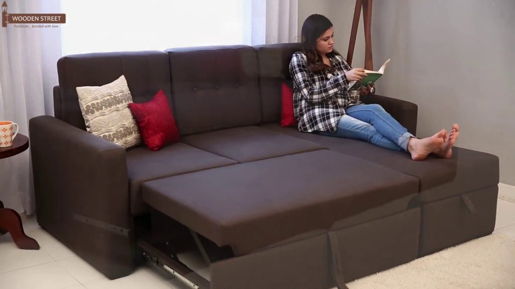 Fabric Alfonso Convertible Sofa Cum Bed Upto 55 Off Youtube