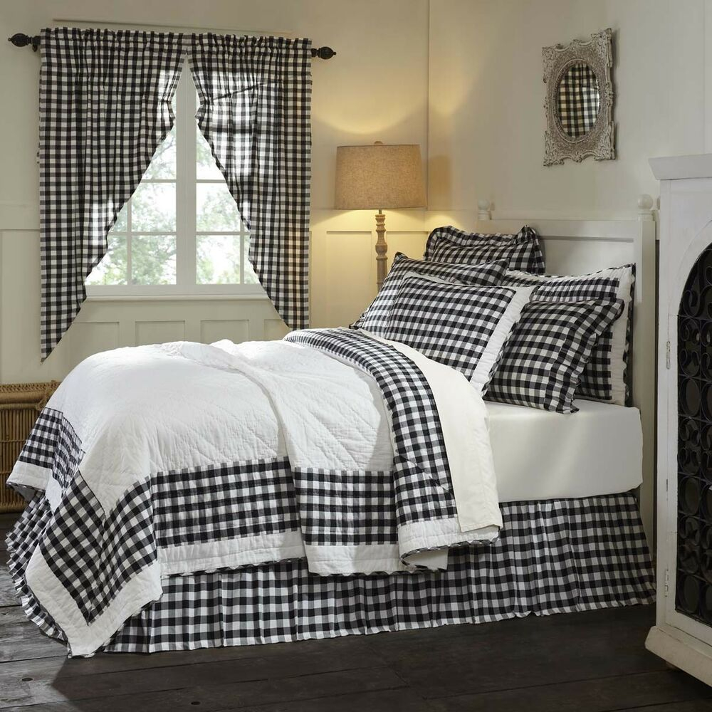 Farmhouse Bedding Jenna Buffalo Check Quilt Cotton Buffalo Check