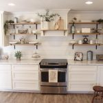 Farmhouse Open Kitchen Shelves