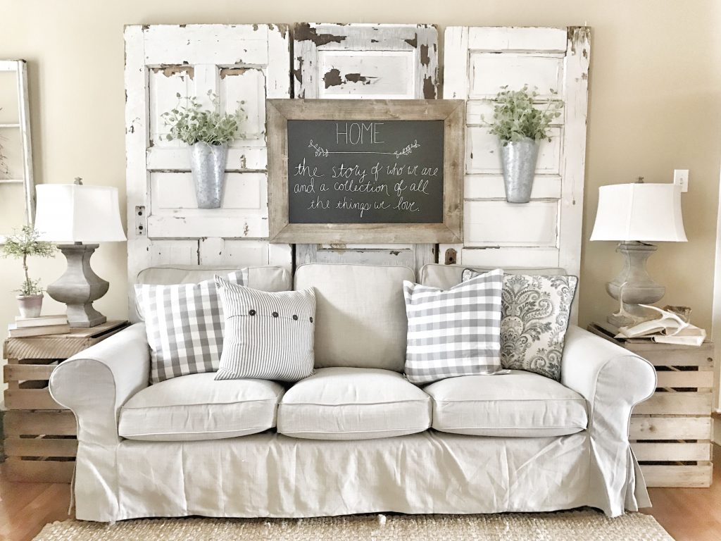 Farmhouse Living Room Ikea Couches With Chippy Doors Ig