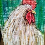 Farmhouse Rooster Decor Rooster Painting Rooster Kitchen Etsy