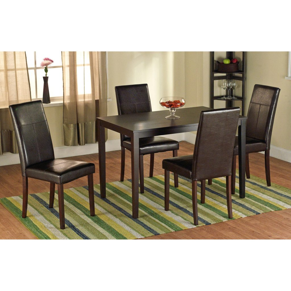 Faux Leather Parson Dining Chair Set Of 2 Walmart