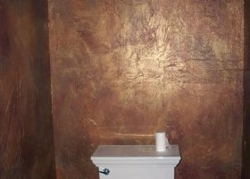 Faux Painted Bathroom Walls