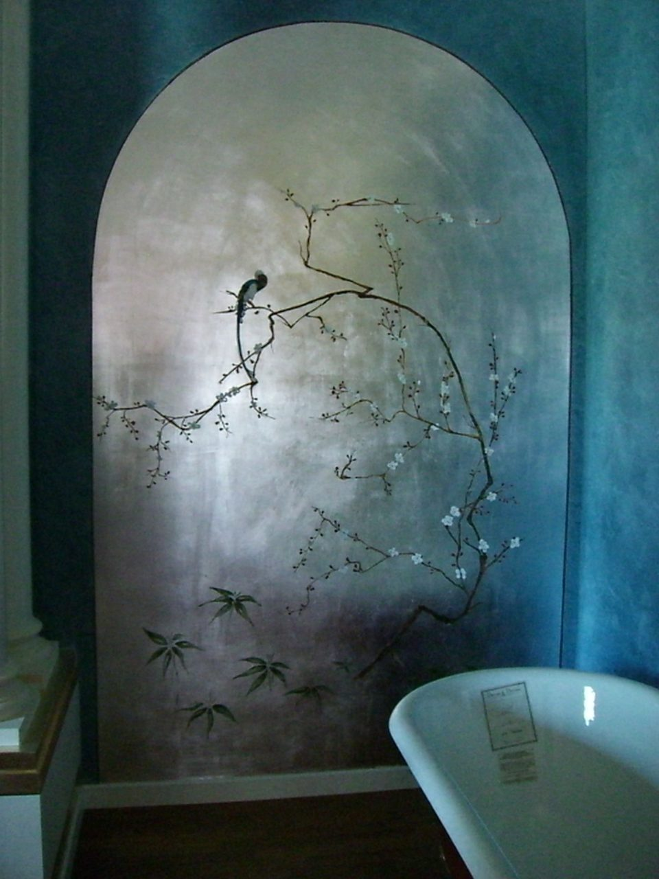 Faux Walls Silver Leaf Archway And Asian Tromp Loiel Make This