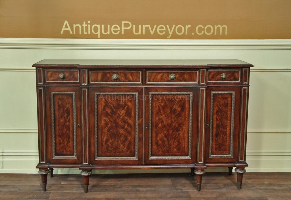Fine Louis Xvi French Antique Reproduction Dining Cabinet Buffet