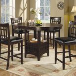 Five Piece Counter Table Set With Four Chairs Angelees Furniture