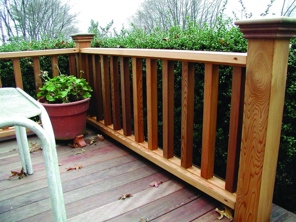 Forms Of Attractive Deck Barriers Wood Deck Railing Wood Deck