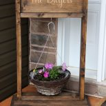 Free Diy Tutorial To Build A Wooden Hanging Plant Stand