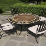 Furniture Dining Sets Tile Top Patio Table Mosaic Patio Dining Chair