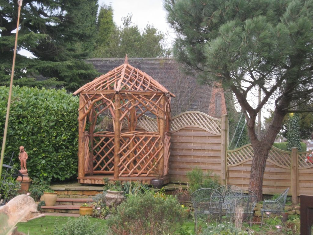 Gazebo Coppice Creations Rustic Garden Furniture And Fencing