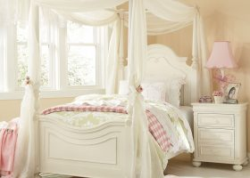 Girls Twin Canopy Bed Curtains