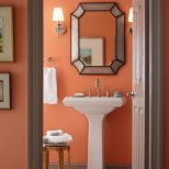 Gliddens Ripe Apricot Color Warms Up Your Bathroom Decor