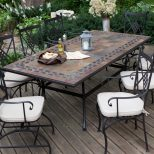 Gorgeous Tile Patio Table Furnishing Outdoor Spaces With Outdoor