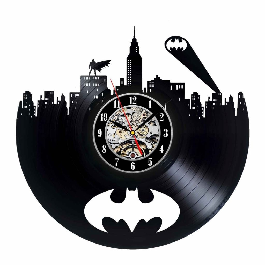 Gotham City Art Modern Wall Clock Gotham City Batman Vinyl Etsy
