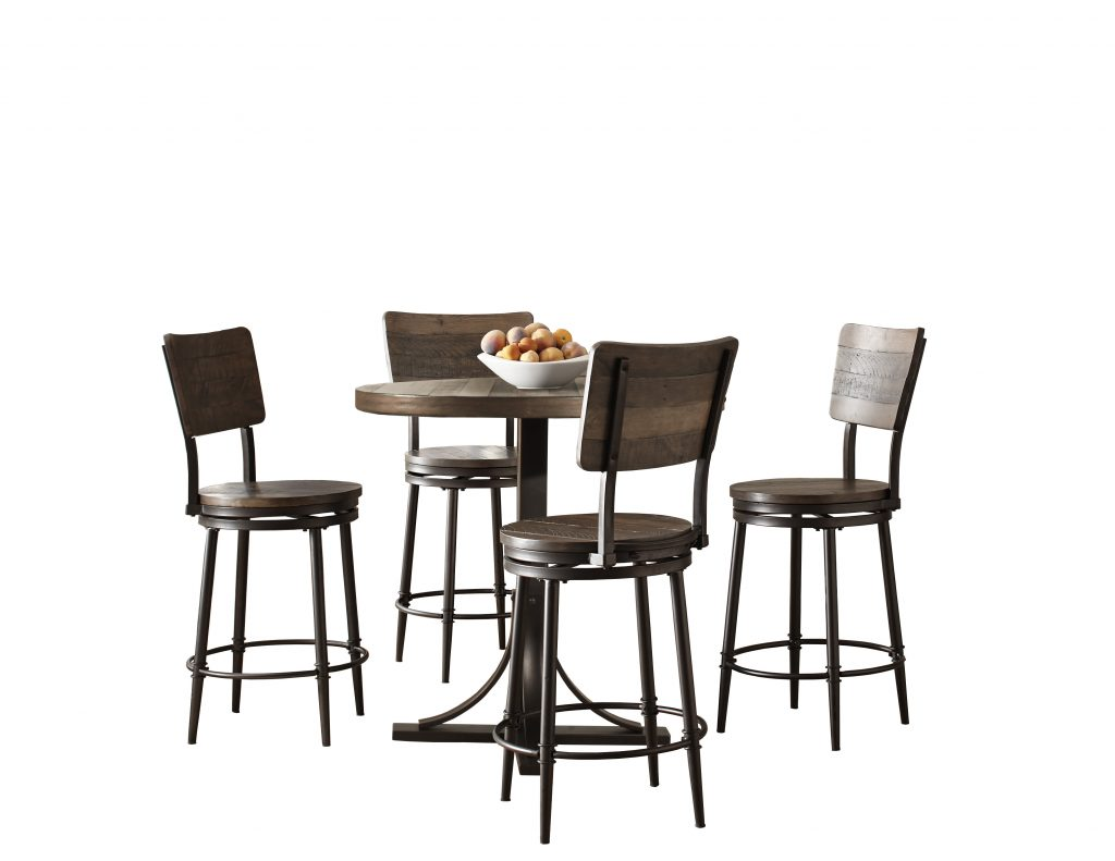 Gracie Oaks Putney 5 Piece Counter Height Breakfast Nook Dining Set
